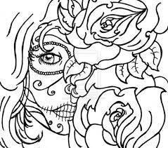 Of The Dead Sugar Skull Coloring Pages Day