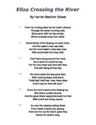 Evidence Based Selected Response EBSR Questions To Use With The Poem Eliza Crosses River By Harriet Beecher Stowe This Shares Elizas Escape