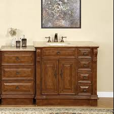 70 Bathroom Vanity Single Sink by Cherry Finish Bathroom Furniture Off Center Left Side Sink Vanity