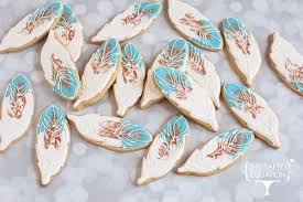 Feather Sugar Cookie Favors