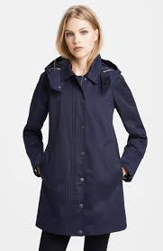 knightsdale short hooded trench coat burberry brit raincoat and