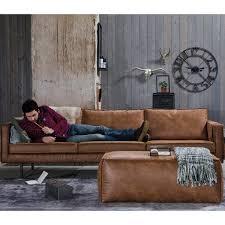 grand canapé 4 places vintage en éco cuir bronco drawers salons