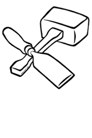 Sawing Wood Tool Clipart