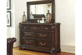 Hayworth Mirrored Chest Silver by Dressers Ashley Furniture Homestore