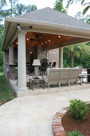 Covered Patio Bar Ideas by Attached Covered Patio Cabana With Curtains Freestanding Loaded