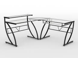 z line designs belaire glass top corner computer desk black