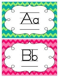 Printable Includes Word Wall Letters With Different Chevron Colored Backgrounds Each Section Has The Capital