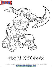 Skylanders Swap Force Undead Series1 Grim Creeper Coloring Page
