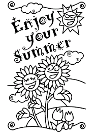 Preschool Summer Coloring Page
