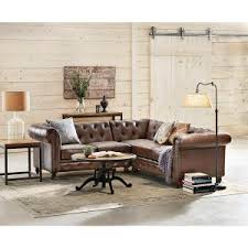 Home Decorators Collection Gordon Tufted Sofa by Home Decorators Collection Gordon 3 Piece Brown Bonded Leather
