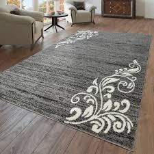modern kurzflor küche mat teppich embroidered clover design