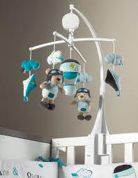 chambre sauthon bleu mobile musical lazare tissu sauthon les bébés du bonheur