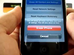 Apple iPhone 3G HARD RESET Wipe Data Master Reset RESTORE to