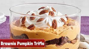 Pumpkin Mousse Brownie Trifle by Kraft Recipes Kraftrecipes Twitter