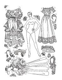 Lovely Latin Paper Dress Doll Coloring Pages