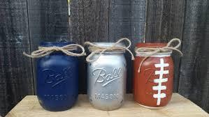 distressed mason jars dallas cowboys decor football mason