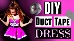 diy duct tape homecoming dress maddie ryles youtube