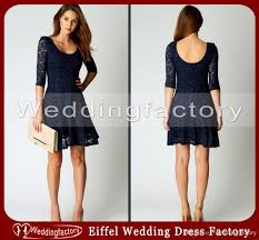 2014 navy blue wedding a line little black lace a line