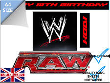 Wwe Raw Cake Decorations by Wrestling Cake Toppers Ebay