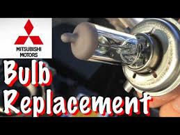 mitsubishi mirage headlight bulb replacement
