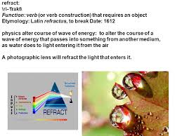 Light Verb by Refract Ri ˈ Frakt Function Verb Or Verb Construction That