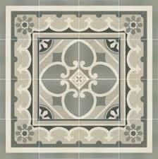 carrelage imitation anciens carreaux de ciment décor cube 20x20 cm
