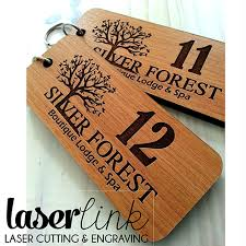 laser cut wooden key rings laser link