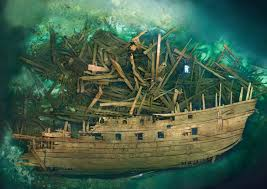 Titanic Sinking Animation Pitch Black by Wreck Of The Swedish Warship Mars Which Exploded During The First