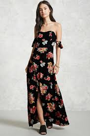 contemporary floral maxi dress forever 21 2000140074