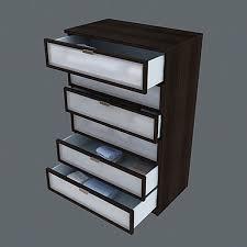 Hopen Dresser 8 Drawer by Hopen 8 Drawer Dresser Black Brown Frosted Glass Scandinavian