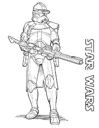 Star Wars Clone Coloring Pages Free Printable For Kids