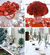 christmas tablescape table setting with silver tiered centerpiece