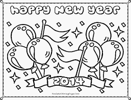 Shining New Years Printable Coloring Pages Free Happy Year Pictures Template Full