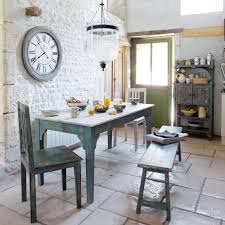 Small Rustic Dining Room Spaces With French Country Style Sets And Wooden Table 2 Chairs Bench Seat Plus Exposed Brick Wall Painted
