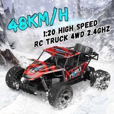 100 Micro Rc Truck 120 48kmH RC Car 24G Remote Control Car Electric OFF Road
