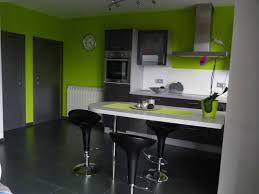 deco cuisine grise et cuisine gris et vert