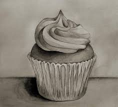 Cupcake In Black and White by GalleryPiece