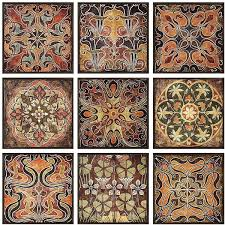 Tuscan Decorative Wall Tile by Imax Set Of 9 Tuscan Tile Pattern Wall Art 200 Liked On