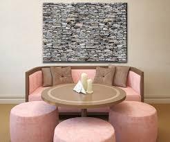 wandbild steinmauer grau wand bilder dekoration wohnung modern wanddeko groß für wohnzimmer wb0022