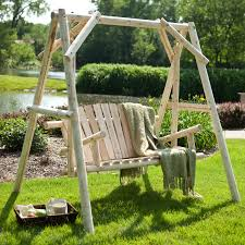 Wooden Garden Swing Seat Plans by Lakeland Mills Country Garden Swing And Stand Set Hayneedle