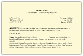 Resume Objective Examples 2017 Corner Throughout Entry Level