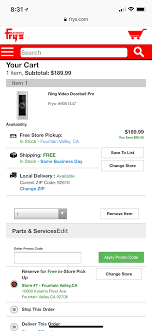 Ring Pro 189.99 With Frys Coupon Code $189.99 - Slickdeals.net