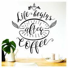 wandtattoo wandsticker wandaufkleber küche spruch coffee