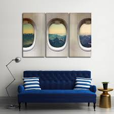 Window Seat Mountains Multi Panel Canvas Wall Art ElephantStock