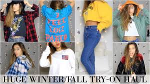 HUGE FALL WINTER TRY ON HAUL Topshop Urban Outfitters Pacsun Pablo Pop Up More