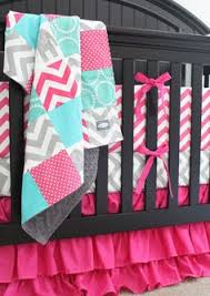 Teal And Coral Baby Bedding by Custom Crib Bedding Baby Bedding Mint Grey Elephant And Coral