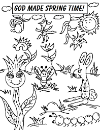 Spring Coloring Pages GOD MADE SPRING TIME