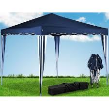tonnelle parapluie pas cher tonnelle pliable 3x3 m bleu achat vente tonnelle barnum