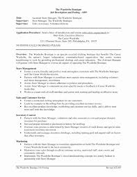 100 Retail Manager Resume Example Sample Stage Management Template