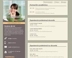 Elaboración CV Online De Profesores Plantillas De Curriculum Online